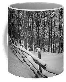 Rural Winter Scene With Fence Coffee Mug