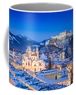 Salzburg In Winter Coffee Mug