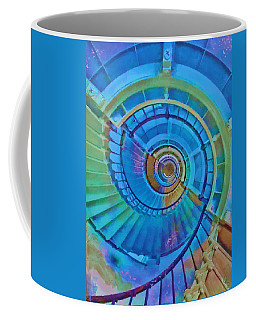 Coffee Mug featuring the painting Stairway To Lighthouse Heaven by Deborah Boyd