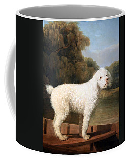 Stubbs' White Poodle In A Punt Coffee Mug by Cora Wandel