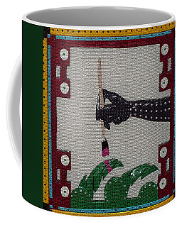 Coffee Mug featuring the sculpture The Helping Hand by Robert Margetts