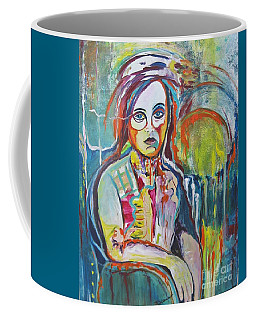 Coffee Mug featuring the painting The Show Must Go On by Diana Bursztein