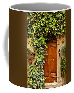 Coffee Mug featuring the photograph Tuscan Door by Brian Jannsen