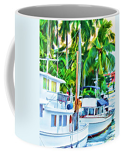 Coffee Mug featuring the painting Two Boats by Deborah Boyd