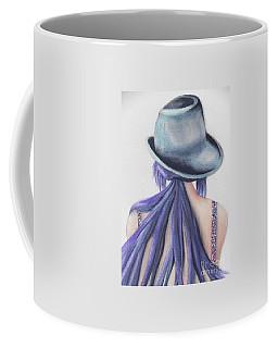 Coffee Mug featuring the painting What Lies Ahead Series by Chrisann Ellis