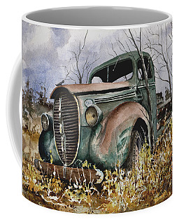 Coffee Mug featuring the painting 39 Ford Truck by Sam Sidders
