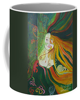 Coffee Mug featuring the painting Alter Ego by Diana Bursztein
