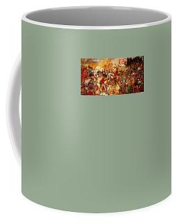 Coffee Mug featuring the painting Battle Of Grunwald by Henryk Gorecki