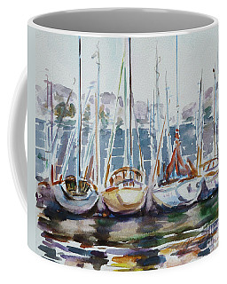 4 Boats Coffee Mug