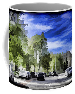 Cars On A Street In Edinburgh Coffee Mug