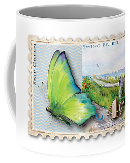 4 Cent Butterfly Stamp Coffee Mug