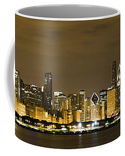 Chicago Skyline At Night Coffee Mug