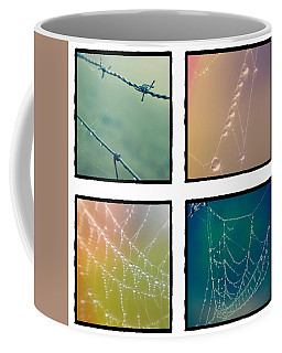 4 Color Web Droplets Coffee Mug