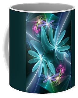 Coffee Mug featuring the digital art Ethereal Flowers by Svetlana Nikolova