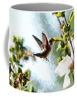 Coffee Mug featuring the photograph Hummingbird by John Freidenberg