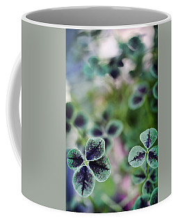 Coffee Mug featuring the photograph 4 Leaf Clover by Nancy Ingersoll