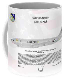 Northrop Grumman E-8c Jstars Coffee Mug by Arthur Eggers
