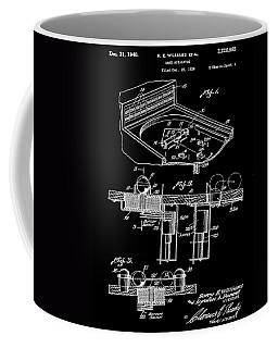 Pinball Machine Patent 1939 - Black Coffee Mug