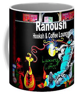 Ranoush Hookah And Coffee Lounge Coffee Mug by Kelly Awad