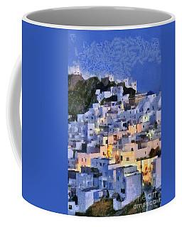 Serifos Town During Dusk Time Coffee Mug