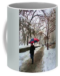 Coffee Mug featuring the digital art Snowfall In Central Park by Deborah Boyd