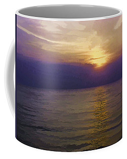 View Of Sunset Through Clouds Coffee Mug