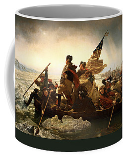 Coffee Mug featuring the photograph Washington Crossing The Delaware by Emanuel Leutze