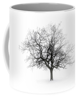 Winter Tree In Fog Coffee Mug