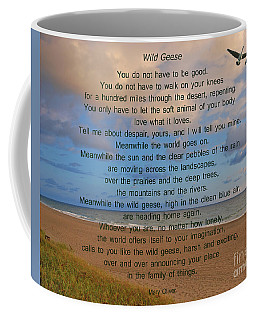 40- Wild Geese Mary Oliver Coffee Mug by Joseph Keane