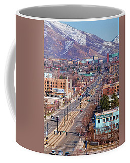 Coffee Mug featuring the photograph 400 S Salt Lake City by Ely Arsha