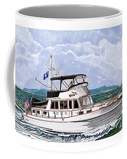 42 Foot Grand Banks Motoryacht Coffee Mug by Jack Pumphrey