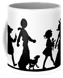 Coffee Mug featuring the digital art 4th Of July Childrens Parade Panorama by Rose Santuci-Sofranko