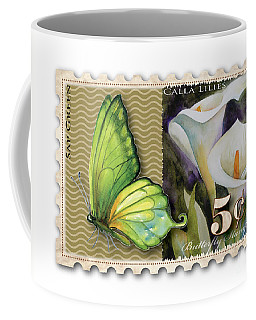 5 Cent Butterfly Stamp Coffee Mug