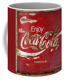 Coca Cola Vintage Rusty Sign Coffee Mug by John Stephens