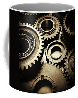 Cogs Coffee Mug by Les Cunliffe