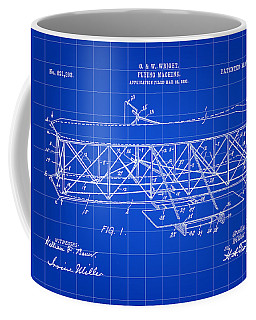 Flying Machine Patent 1903 - Blue Coffee Mug by Stephen Younts