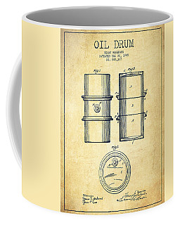 Oil Drum Patent Drawing From 1905 Coffee Mug