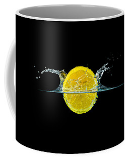 Splashing Lemon Coffee Mug by Peter Lakomy