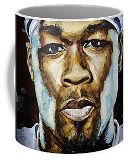 Coffee Mug featuring the painting 50 Cent by Laur Iduc