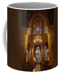 Architectural Artwork Within Notre Dame In Paris France Coffee Mug by Richard Rosenshein