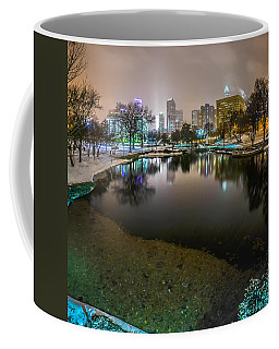 Charlotte Nc Skyline Covered In Snow In January 2014 Coffee Mug