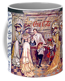 Coca - Cola Vintage Poster Coffee Mug by Gianfranco Weiss