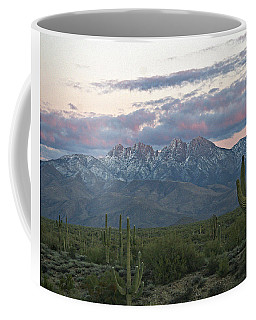 Four Peaks Sunset Snow Coffee Mug