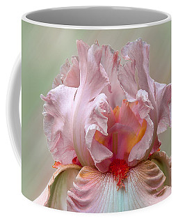 Pink Electrabrite Bearded Iris Coffee Mug