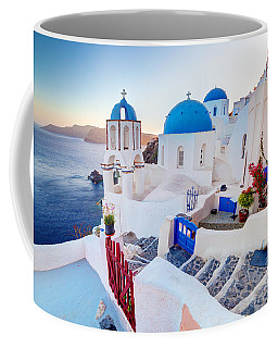 Oia Town On Santorini Greece Coffee Mug
