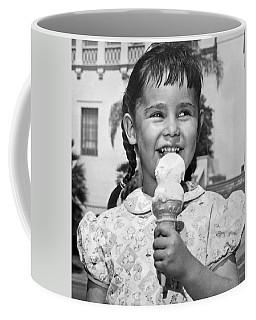 Girl With Ice Cream Cone Coffee Mug