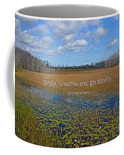 69- Thich Nhat Hanh Coffee Mug by Joseph Keane