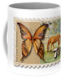 7 Cent Butterfly Stamp Coffee Mug
