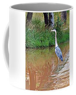 Blue Heron On The East Verde River Coffee Mug