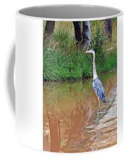 Blue Heron On The East Verde River Coffee Mug
